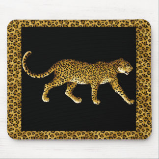 Cheetah with a Spots Border Mouse Pad