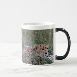 Cheetah with cub Mug
