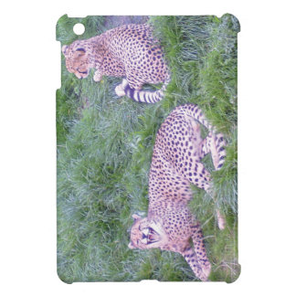 Cheetahs relaxing in grass iPad mini covers