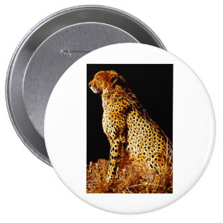 Cheetahs stance 10 cm round badge