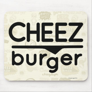 Cheezburger Logo (black) Mouse Pad
