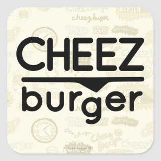 Cheezburger Logo (black) Square Sticker