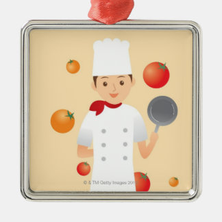 Chef 2 christmas ornament