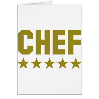 chef 5 star icon cards