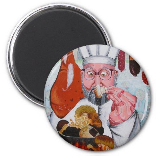 chef 6 cm round magnet