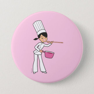 Chef 7.5 Cm Round Badge
