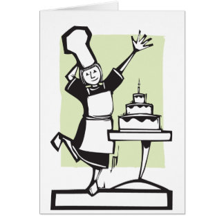 Chef and Birthday Cake Card