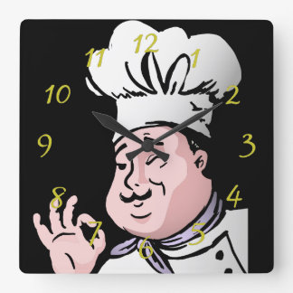 Chef approve square wall clock