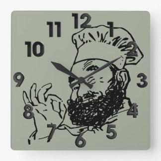 Chef approved square wall clock