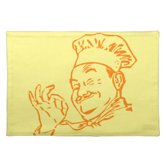 Chef approved yellow placemat