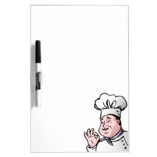 Chef approves dry erase boards