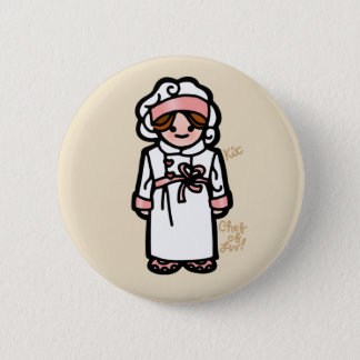 chef badge. 6 cm round badge