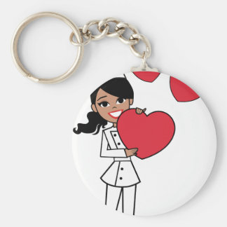 Chef Baker Cook Cute Girl Illustration Keychains