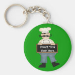 Chef Basic Round Button Key Ring