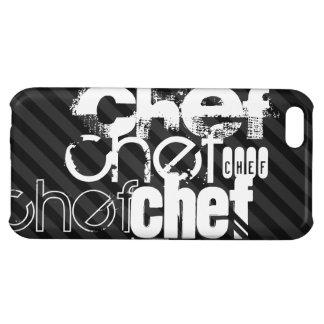 Chef; Black & Dark Gray Stripes Case For iPhone 5C