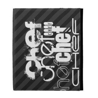 Chef; Black & Dark Gray Stripes iPad Cases