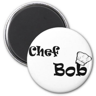 Chef Bob 6 Cm Round Magnet