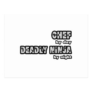 Chef By Day Deadly Ninja By Night Post Card