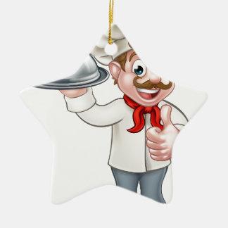 Chef Cartoon Ceramic Star Decoration