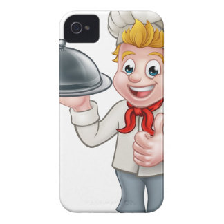 Chef Cartoon Character Mascot Case-Mate iPhone 4 Case
