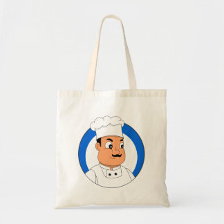 Chef cartoon tote bag