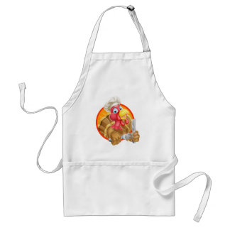 Chef Cartoon Turkey Standard Apron