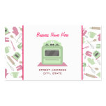 Chef Caterer Business Card - Kitchen Pattern