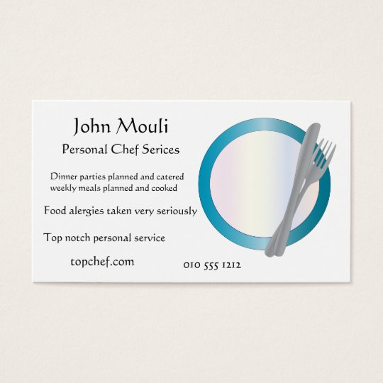 Chef,caterer or restaurant business card