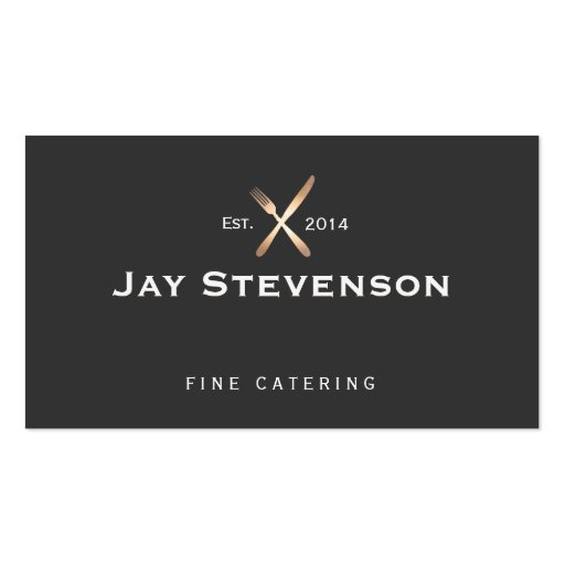 Chef, Catering Gold and Black Culinary Logo Business Card Templates