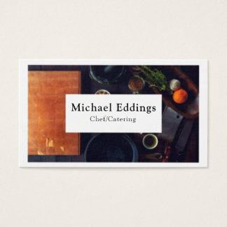 Chef Catering Photo Business Card
