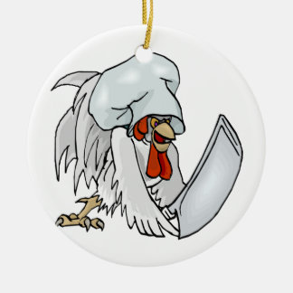 Chef Chicken Christmas Ornament