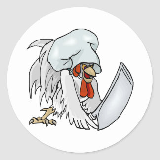 Chef Chicken Classic Round Sticker