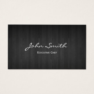 Chef Classy Dark Wood Business Card