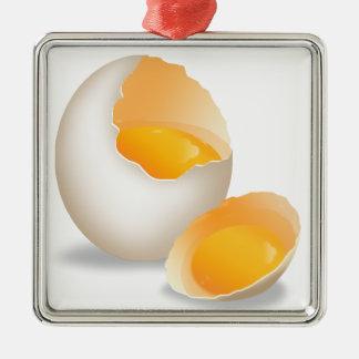 chef,cocina-love Silver-Colored square decoration
