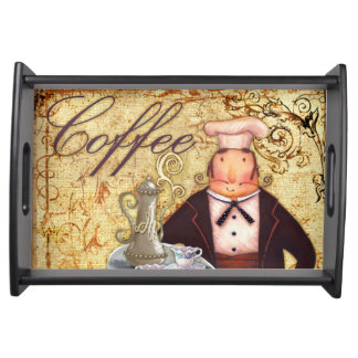 Chef Coffee Serving Tray