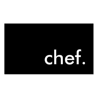 chef. (color customizable) business card template
