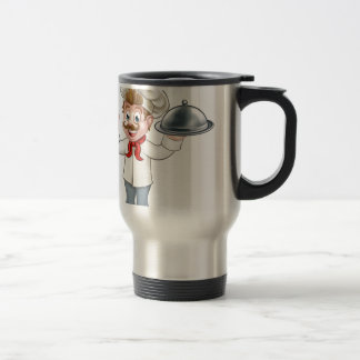 Chef Cook Cartoon Man Travel Mug
