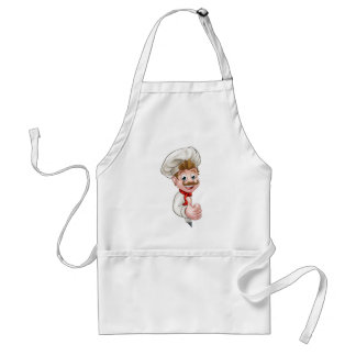 Chef Cook Cartoon Mascot Standard Apron