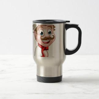 Chef Cook Cartoon Mascot Travel Mug