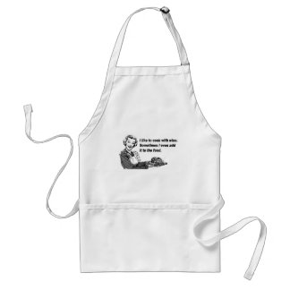 Chef & Cook Humor - Cooking with Wine Aprons