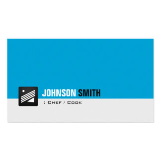 Chef / Cook - Personal Aqua Blue Double-Sided Standard Business Cards (Pack Of 100)