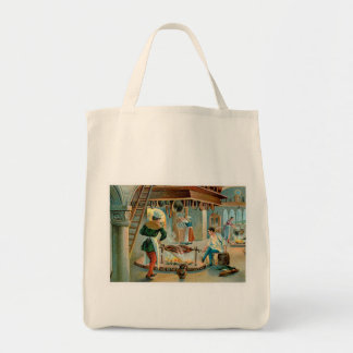 Chef Cook Vintage Food Ad Art Canvas Bags