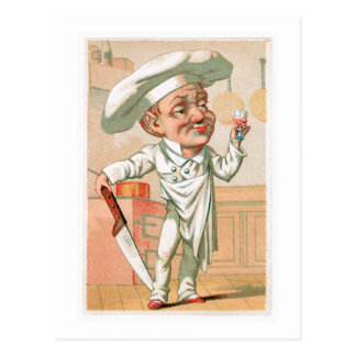Chef Cook Vintage Food Ad Art Postcard