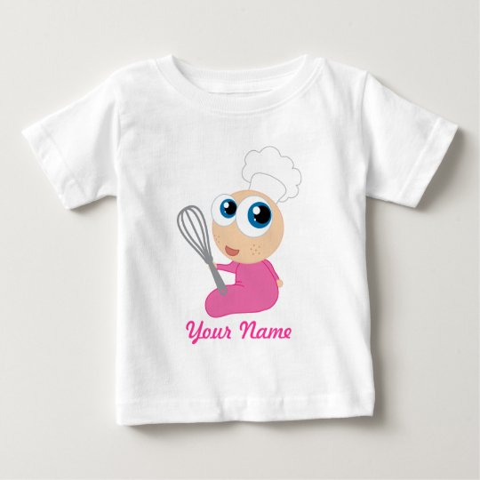 Chef Cooking Girl Baby Baby T-Shirt