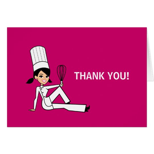 Chef Culinary Thank You Note Card Folded