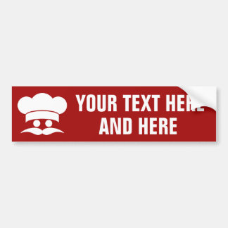 CHEF custom bumpersticker Bumper Sticker