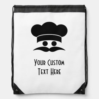Chef custom daypack drawstring bag