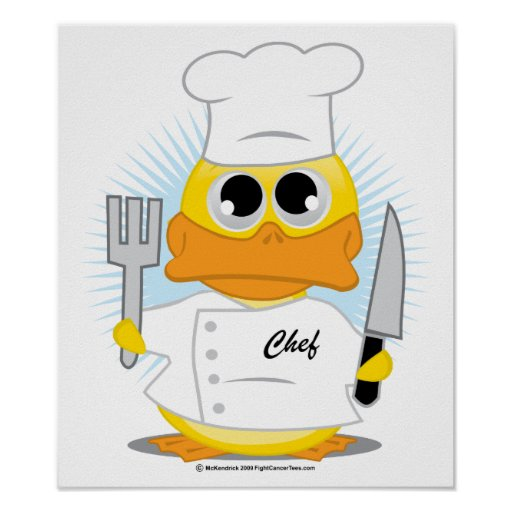 Chef Duck Poster