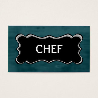 Chef Elegant Name Plate Business Card