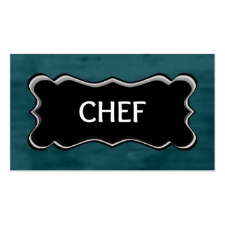 Chef Elegant Name Plate Pack Of Standard Business Cards